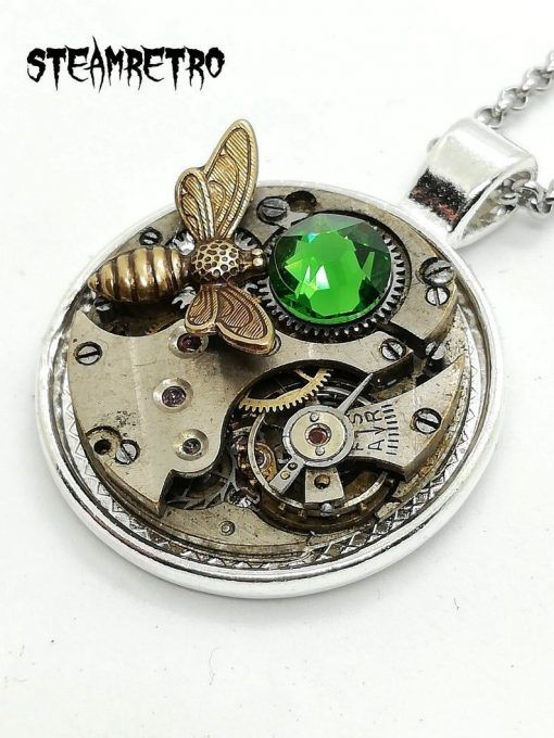 bee steampunk necklace