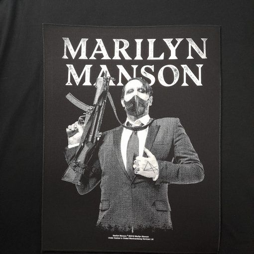 marilyn manson backpatch / parche