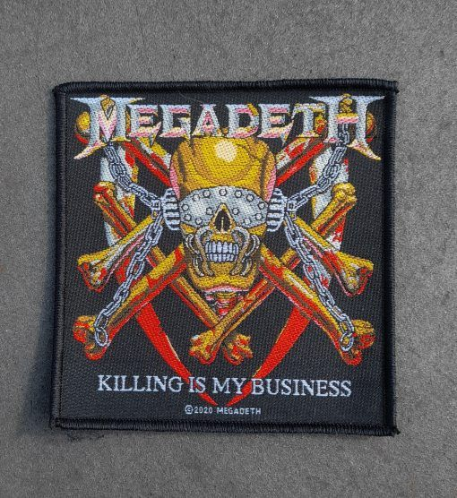 """Parche Megadeth """"Killing is my business"""""""