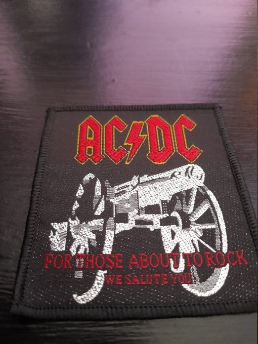 """Parche AC/DC """"For those about to rock """""""