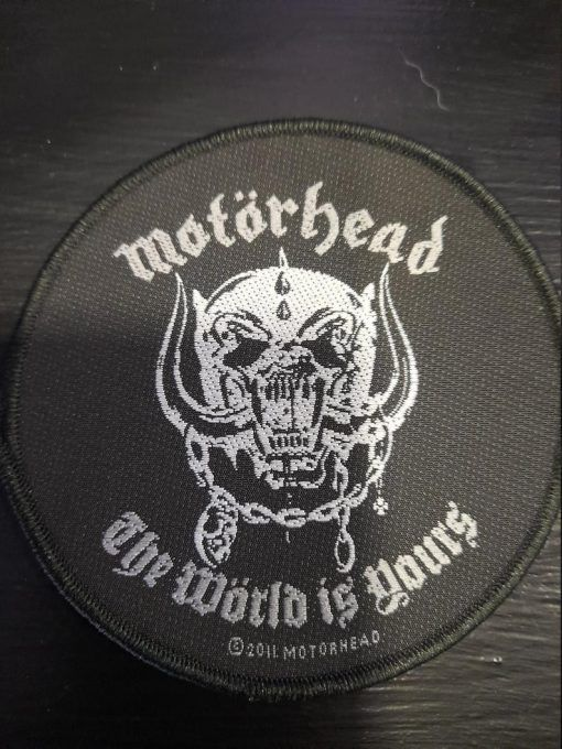 """Parche Motorhead """"The world is yours"""""""